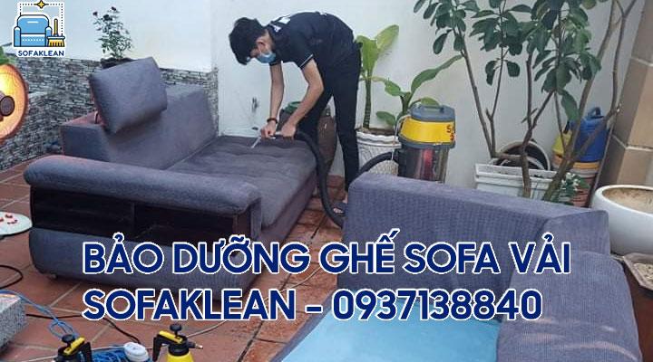 Bảo dưỡng ghế sofa vải